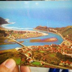 Postales: POSTAL RIBADESELLA VISTA AÉREA N 386 ALARDE ESCRITA. Lote 210682372