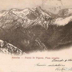 Postales: ASTURIAS PUERTO DE PAJARES J.N.B. CIRCULADA 1903. Lote 210759786