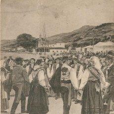 Postales: ASTURIAS 569 LA DANZA PRIMA H. Y M. CIRCULADA EN 1906. Lote 210760637