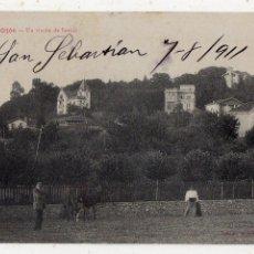 Postales: GIJÓN. UN RINCÓN DE SOMIÓ. ESCRITA EL AÑO 1911.. Lote 211758353