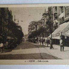 Postales: POSTAL GIJÓN. CALLE CORRIDA.. Lote 211883612