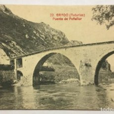 Cartes Postales: GRADO (ASTURIAS). PUENTE DE PEÑAFLOR.. Lote 213063993