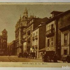 Postales: GIJON. CALLE DE LOS MOROS. (REVERSO SIN DIVIDIR). Lote 215517893