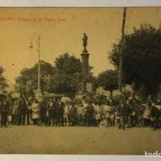 Postales: LA FELGUERA. ESTATUA DE D. PEDRO DURO. (IMP Y LIB. PULIDO). Lote 215522345