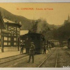 Postales: COVADONGA. ESTACIÓN DEL TRANVIA. FERROCARRIL. (COLEC. V. ERO). Lote 215530062
