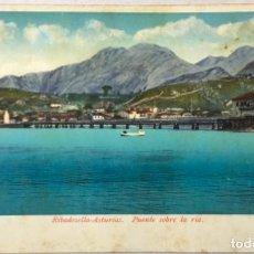 Cartes Postales: RIBADESELLA - ASTURIAS. PUENTE SOBRE LA RIA. (ED. PURGER & CO.).. Lote 217078858