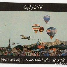 Postales: GIJON. POSTAL 1ª SEMANA NEGRA. JULIO 1988. DISEÑO BLU. ASTURIAS. Lote 217118433