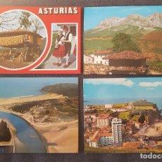 Postales: LOTE DE POSTALES DE ASTURIAS AÑOS 70 A 80. Lote 217385175