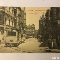 Postales: GIJON. CALLE DE PY MARGALL. (POSTAL VINK) TRANVIA.. Lote 217527581