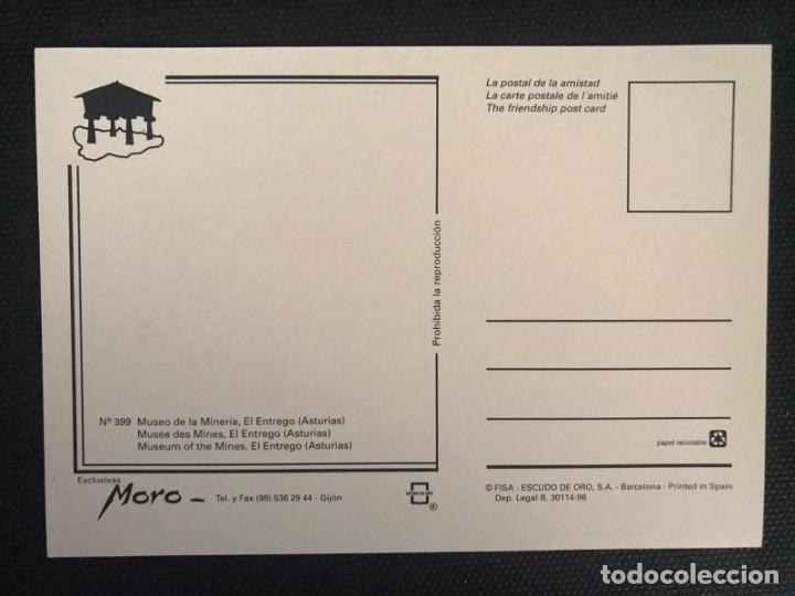 Postales: POSTAL MUSEO DE LA MINERÍA Y DE LA INDUSTRIA - SELLO DE ORO Nº 399 - ASTURIAS - Foto 2 - 217658185