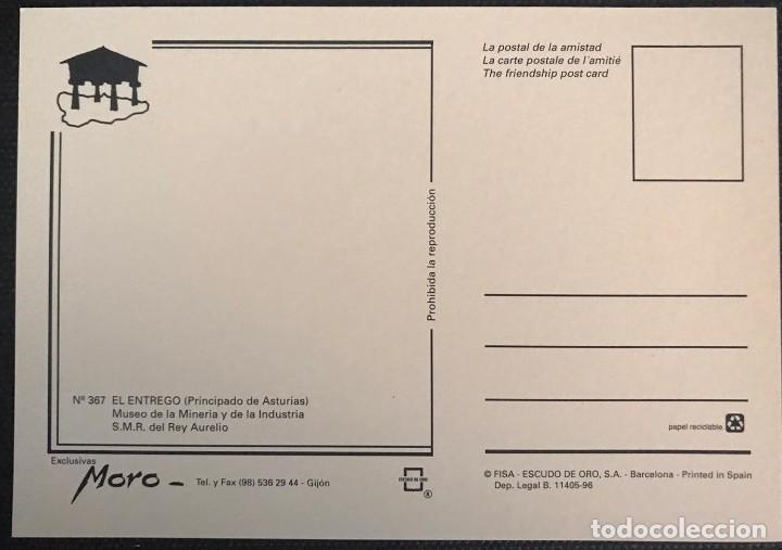 Postales: POSTAL MUSEO DE LA MINERÍA Y DE LA INDUSTRIA - SELLO DE ORO Nº 367 - ASTURIAS - Foto 2 - 217690981