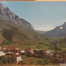 Postales: POSTAL N°61 VALLE DE VALDEÓN POSADA AL FONDO TORRE DE MARISTAS PICOS DE EUROPA ASTURIAS. Lote 218150586