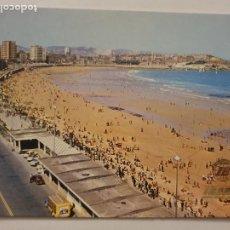 Cartoline: GIJÓN - PLAYA DE SAN LORENZO - PUBLICIDAD IBERIA - LMX - AST6. Lote 218342248