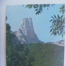 Postales: POSTAL DE LOS PICOS DE EUROPA : NARANJO DE BULNES . AÑOS 60 , CIRCULADA DE OVIEDO A LEPE EN 1975. Lote 219271210