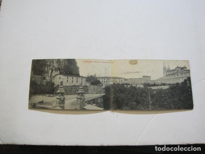 Postales: ASTURIAS-COVADONGA-VISTA PANORAMICA-DOBLE-THOMAS-POSTAL ANTIGUA-(74.543) - Foto 2 - 220527086