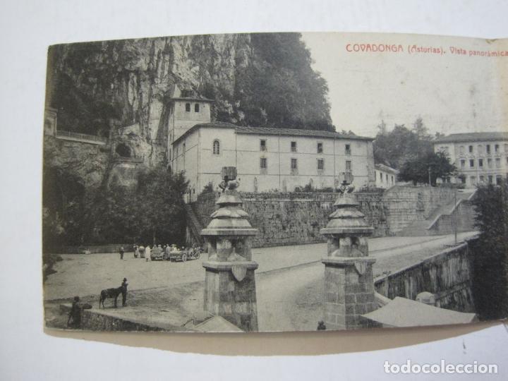 Postales: ASTURIAS-COVADONGA-VISTA PANORAMICA-DOBLE-THOMAS-POSTAL ANTIGUA-(74.543) - Foto 3 - 220527086