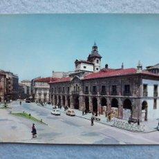 Cartes Postales: AVILÉS. AYUNTAMIENTO Y PLAZA MAYOR.. Lote 220602320