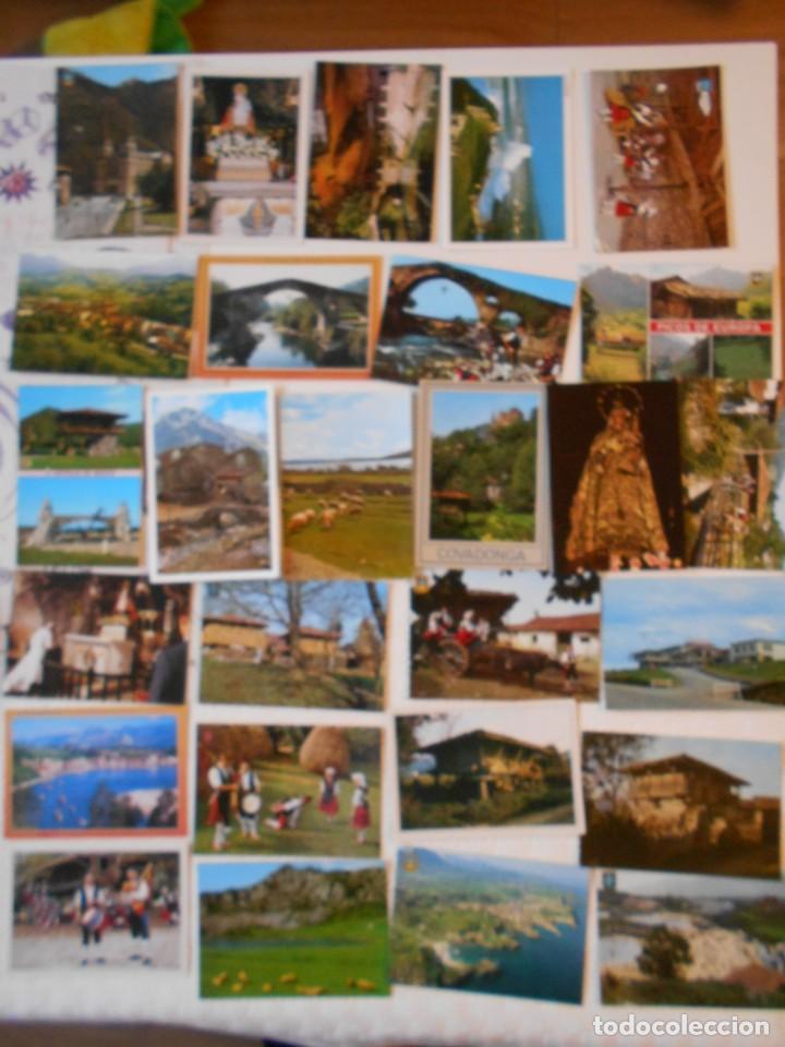 ASTURIAS. LOTE DE 27 TARJETAS POSTALES. LLANES, CANGAS DE ONIS, INFIESTO, COVADONGA, TIPICAS, PICOS (Postales - España - Asturias Moderna (desde 1.940))