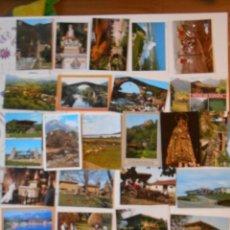 Postales: ASTURIAS. LOTE DE 27 TARJETAS POSTALES. LLANES, CANGAS DE ONIS, INFIESTO, COVADONGA, TIPICAS, PICOS. Lote 220605790