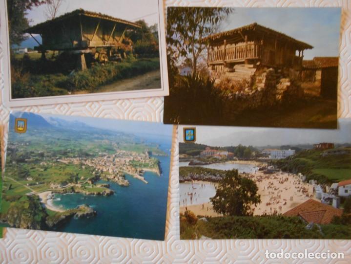 Postales: ASTURIAS. LOTE DE 27 TARJETAS POSTALES. LLANES, CANGAS DE ONIS, INFIESTO, COVADONGA, TIPICAS, PICOS - Foto 2 - 220605790