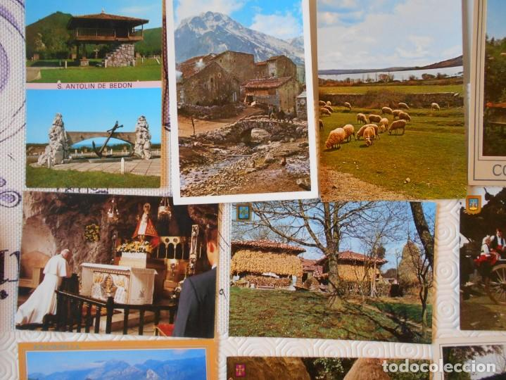 Postales: ASTURIAS. LOTE DE 27 TARJETAS POSTALES. LLANES, CANGAS DE ONIS, INFIESTO, COVADONGA, TIPICAS, PICOS - Foto 4 - 220605790