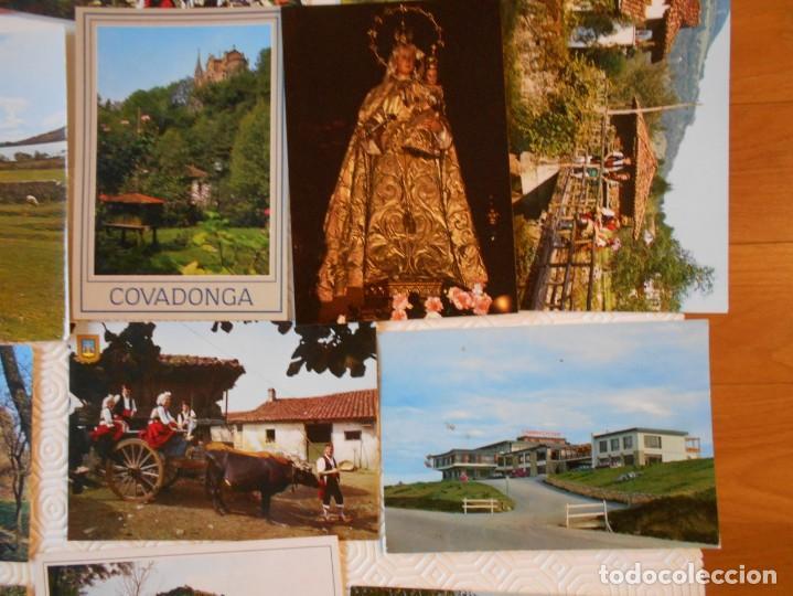 Postales: ASTURIAS. LOTE DE 27 TARJETAS POSTALES. LLANES, CANGAS DE ONIS, INFIESTO, COVADONGA, TIPICAS, PICOS - Foto 5 - 220605790