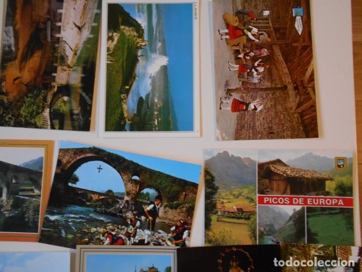 Postales: ASTURIAS. LOTE DE 27 TARJETAS POSTALES. LLANES, CANGAS DE ONIS, INFIESTO, COVADONGA, TIPICAS, PICOS - Foto 6 - 220605790
