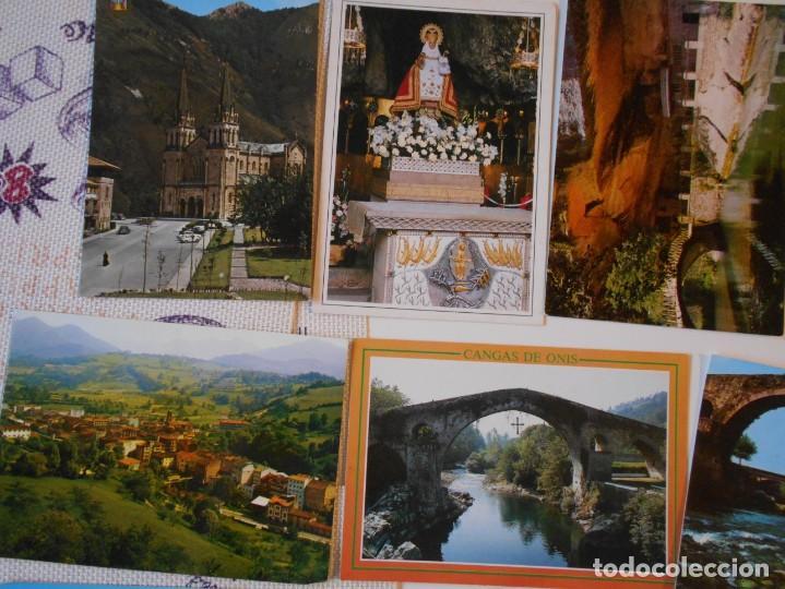 Postales: ASTURIAS. LOTE DE 27 TARJETAS POSTALES. LLANES, CANGAS DE ONIS, INFIESTO, COVADONGA, TIPICAS, PICOS - Foto 7 - 220605790