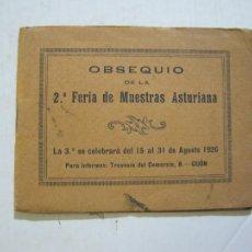Postales: ASTURIAS-OBSEQUIO 2ª FERIA DE MUESTRAS ASTURIANA-AGOSTO 1926-CATALOGO FOTOGRAFICO-VER FOTOS-(74.930). Lote 221814871