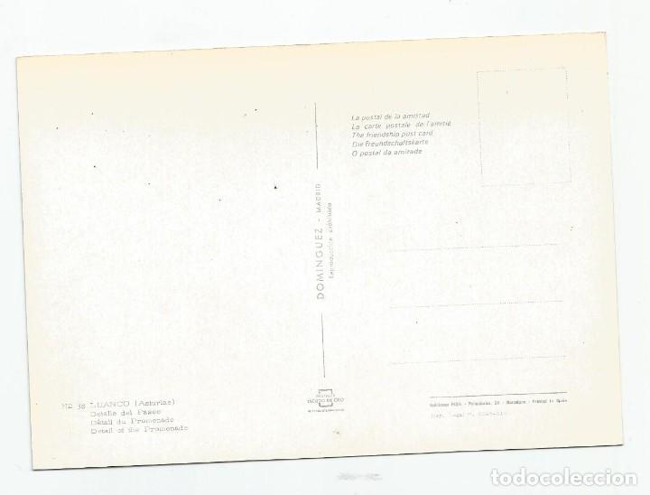 Postales: ANTIGUA POSTAL DE LUANCO ASTURIAS- EDICIONES FISA PARA DOMINGUEZ- 38 DETALLE DEL PASEO-SC - Foto 2 - 221932096