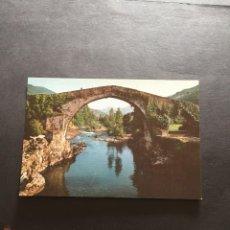 Postales: POSTAL DE CANGAS DE ONIS - PUENTE ROMANICO - LA DE LA FOTO VER TODAS MIS FOTOS Y POSTALES. Lote 222540316