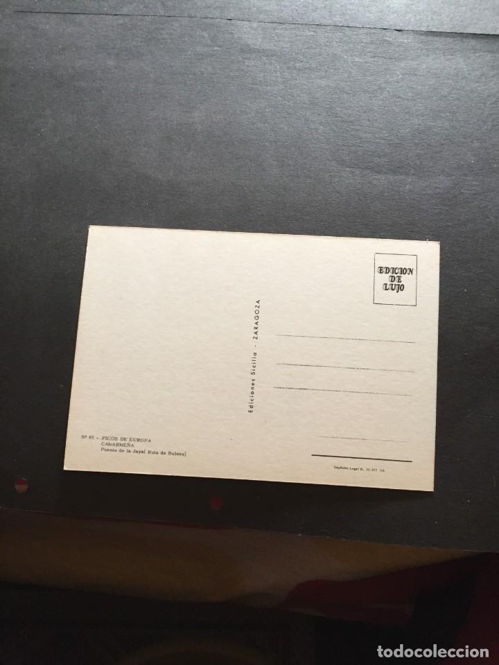 Postales: POSTAL DE PICOS DE EUROPA- CAMARMEÑA - LA DE LA FOTO VER TODAS MIS FOTOS Y POSTALES - Foto 2 - 222541261