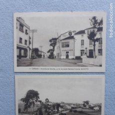 Postales: LOTE DE 2 POSTALES ANTIGUAS DE LA CARIDAD. ASTURIAS. FOTO GÓMEZ. EXCLUSIVAS SÁNCHEZ.. Lote 222762271