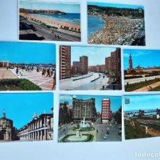 Postales: 8 POSTALES DE GIJON (ASTURIAS). Lote 222819873