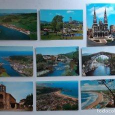 Postales: 9 POSTALES DE AVILES, NAVIA, VILLAVICIOSA, CANGAS DE ONIS Y SALINAS.. Lote 222820910