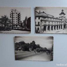 Postales: 3 POSTALES DE OVIEDO (ASTURIAS) EN BLANCO Y NEGRO AÑOS 40/50.. Lote 222821851