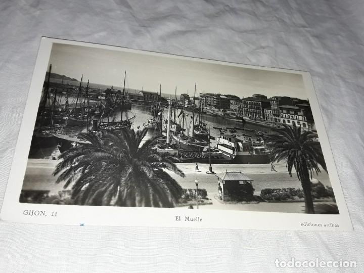 Postales: Antigua postal Gijón El Muelle - Foto 2 - 224892631
