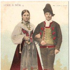 Postales: 1903CA. POSTAL SIN DIVIDIR. RIVEREÑOS ASTURIAS. FOTOGRAFÍA LAURENT (1878 - 1893 CA) LACOSTE, MADRID. Lote 225695660