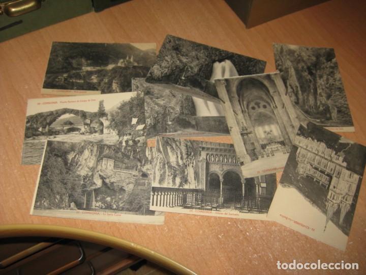 18 POSTALES DE COVADONGA (Postales - España - Asturias Antigua (hasta 1.939))