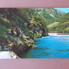 Postales: POSTAL 72 BUSTAMANTE. PESCA DEL SALMÓN CARES NISERIAS PICOS DE EUROPA. ASTURIAS. 1968. SIN CIRCULAR.. Lote 229092130