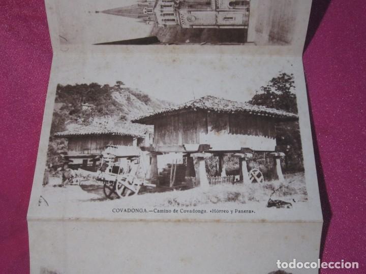 8 FOTOGRAFIAS ANTIGUAS RECUERDO DE COVADONGA ASTURIAS (Postales - España - Asturias Moderna (desde 1.940))