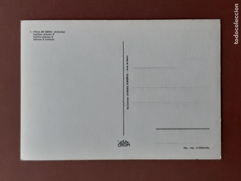Postales: POSTAL 5 VISTA CROM. INSTITUTO ALFONSO X. POLA DE SIERO. ASTURIAS. 1969. SIN CIRCULAR. - Foto 2 - 231038245