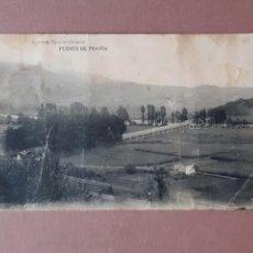 Postales: POSTAL FOTOTIPIA HAUSER Y MENET. LIBRERÍA ESCOLAR. OVIEDO. PUENTE DE PRAVIA. ASTURIAS. SIN CIRCULAR.. Lote 231176155