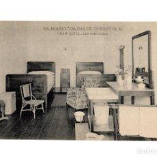 Postales: CALDAS DE OVIEDO.(ASTURIAS).- GRAN HOTEL DEL BALNEARIO. UNA HABITACIÓN.. Lote 231648690