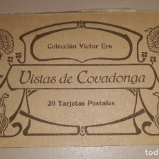 Postales: BLOC DE POSTALES DE VISTAS DE COVADONGA COLECCIÓN VICTOR ERO. COMPLETO. INICIOS S XX. Lote 234553995