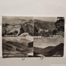 Postales: COVADONGA, CUESTA DE LA PICOTA, LAGO LA ERCINA, LAGO ENOL, EDICIONES SICILIA. Lote 235552500