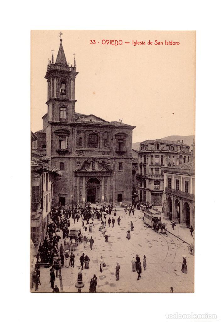 OVIEDO.(ASTURIAS).- IGLESIA DE SAN ISIDRO. (Postales - España - Asturias Antigua (hasta 1.939))