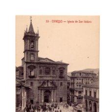 Postales: OVIEDO.(ASTURIAS).- IGLESIA DE SAN ISIDRO.. Lote 235628560