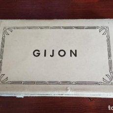 Postales: BLOCK CON 14 POSTALES FOTOGRÁFICAS . GIJON.. Lote 235935820