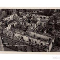 Postales: OVIEDO.(ASTURIAS).- PALACIO EPISCOPAL DESDE LA CATEDRAL. SUCESOS OCTUBRE DE 1934. POSTAL FOTOGRÁFICA. Lote 236088960